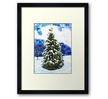 Christmas Tree Winter Landscape Framed Print