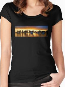 .Marmong Point Waterscape Sunrise. Women's Fitted Scoop T-Shirt