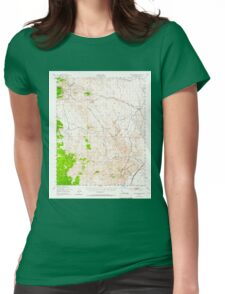 USGS TOPO Map California CA Cross Mountain 297240 1943 62500 geo Womens Fitted T-Shirt