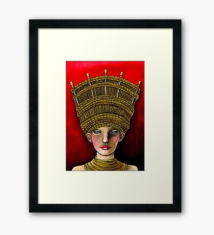 Queen of Yarn Framed Print