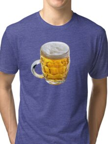 Beer drinking Tri-blend T-Shirt