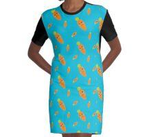 Fresh smiling Carrots  Graphic T-Shirt Dress