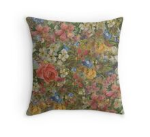Pretty. Odd. Flowers Painting Throw Pillow