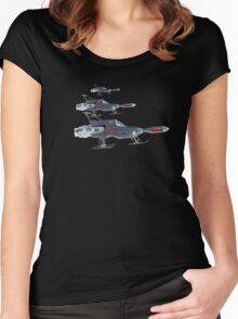 U F O Interceptors Nightside Women's Fitted Scoop T-Shirt