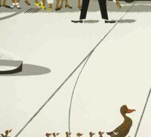 Vintage Copenhagen Denmark Ducks Crossing Road Sticker