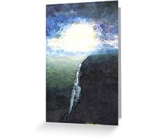 Ocean painting Blue Abstract seascape art  Greeting Card