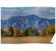 Boulder Colorado Autumn Flatiron Afternoon Poster