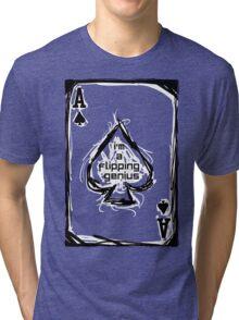 Flipping Genius - Ace of Spades Tri-blend T-Shirt