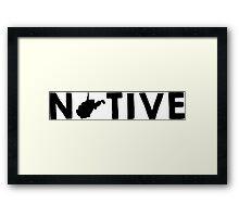 West Virginia Native WV Framed Print