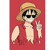 """ONE PIECE: """"The Cool Captain"""" Luffy In Shades Photographic Print"""