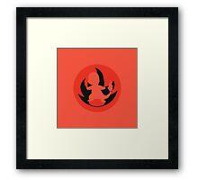 POKEMON: Minimalist Charmander Framed Print