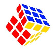 Rubic Cube of 80s Photographic Print