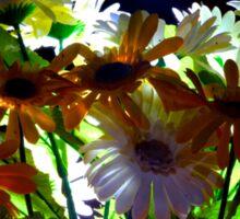 Backlit Flower Bouquet  Sticker