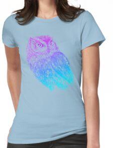 Western Screech Owl Womens Fitted T-Shirt