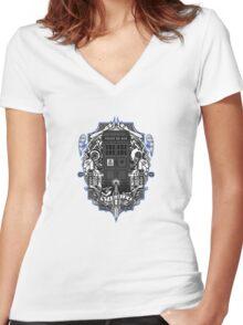 Tardis Women's Fitted V-Neck T-Shirt