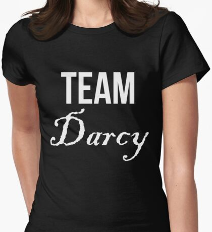 Team Darcy Jane Austen Pride & Prejudice Womens Fitted T-Shirt