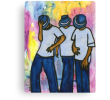Let's STEP, My Brothas Canvas Print
