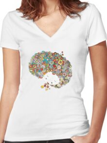 Peace In Confusion Women's Fitted V-Neck T-Shirt
