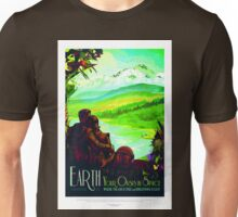 Vintage Earth Space Travel Your Oasis in Space Unisex T-Shirt