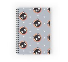 Cute Cat with red Cirlce Spiral Notebook