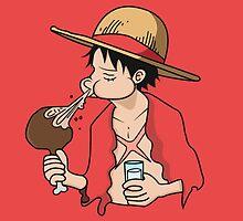 ONE PIECE: Midnight Snack Luffy by TeemoTaylor