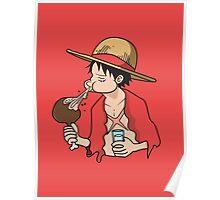 ONE PIECE: Midnight Snack Luffy Poster
