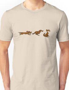 Dog Run sequential art Unisex T-Shirt