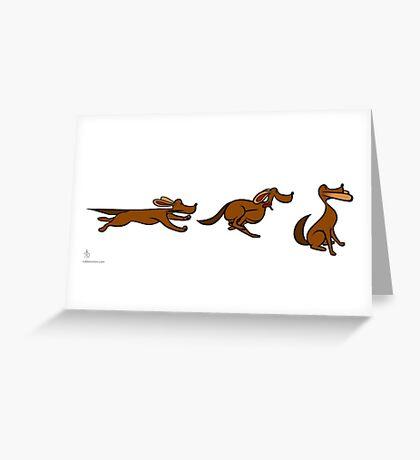 Dog Run sequential art Greeting Card