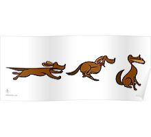 Dog Run sequential art Poster