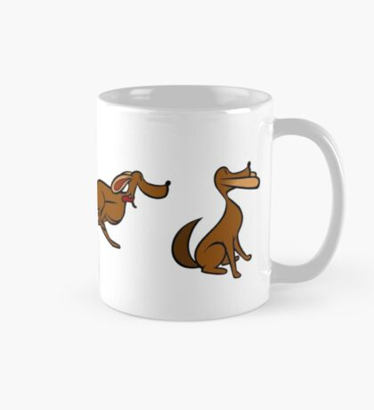 Dog Run sequential art Mug