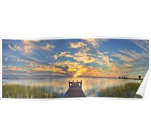 Texas Coast Panorama 2 from Rockport Poster