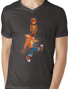 Super Crash Box Mens V-Neck T-Shirt