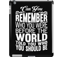 Can You Remember iPad Case/Skin