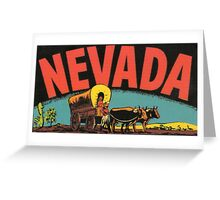 Nevada NV State Vintage Travel Decal Greeting Card