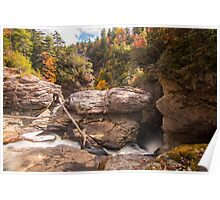 Rock Formation at Linville Falls Poster