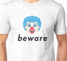 beware the killer clown emoji Unisex T-Shirt