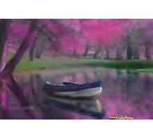 France boat landscape Seascape impressionist Photographic Print