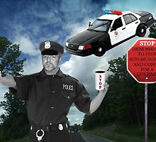 I'M JUST DOING MY JOB..I'M THE HIGHWAY PATROL.. FUNNY POLICE PICTURE AND OR CARD ..BUT U HAD BETTER STOP..OR ELSE LOL.. by ✿✿ Bonita ✿✿ ђєℓℓσ