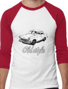 old car retro vintage old timer old school Men's Baseball ¾ T-Shirt