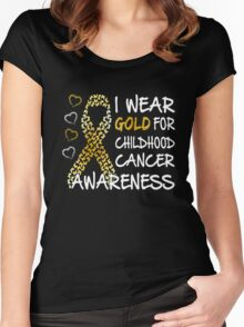 Childhood Cancer Awareness Women's Fitted Scoop T-Shirt