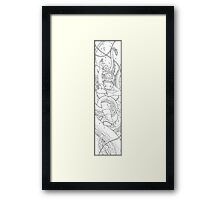To the Depths - Outline Framed Print