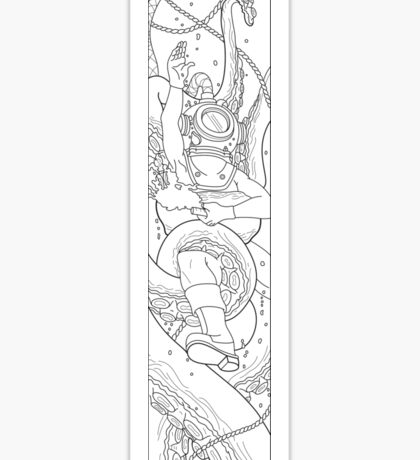 To the Depths - Outline Sticker
