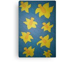Pop Art Daffodils Canvas Print