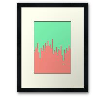 Dripping paint Framed Print