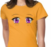 Giant Anime Eyes Womens Fitted T-Shirt