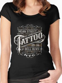 New York Tattoo - NYC - Lettering - vintage Women's Fitted Scoop T-Shirt