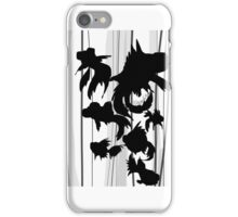 Goldfish silhouette  iPhone Case/Skin