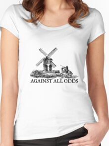 don quixote don quijote retro vintage knight lifestyle deep Women's Fitted Scoop T-Shirt