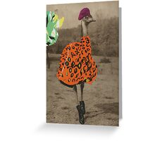 Collage series 1 - The Fashionable Ostrich Greeting Card