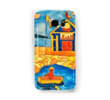 OCEAN FISH MARKET FISHING ROW BOAT, I ROW FUNNY QUOTE  Samsung Galaxy Case/Skin